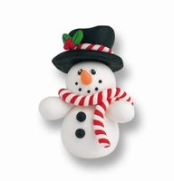 Claydough Snowman with Hat