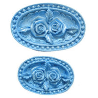 FI Molds Rose Medallions set/2