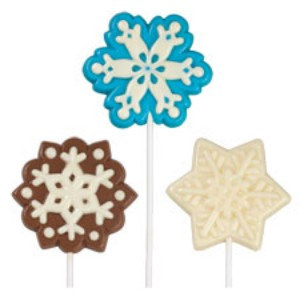 Wilton Lollipop mold Large Snowflake