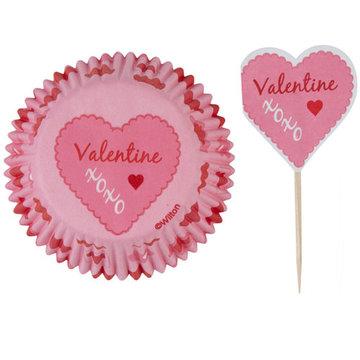 Wilton Cupcake Combo Pack Pink Damask Valentine pk/24