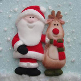 KD Siliconen mould - Santa & Rudolph