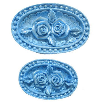 FI Molds Rose Medallions set/2