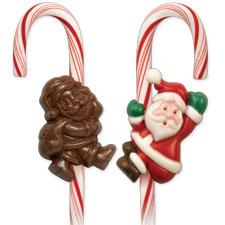 Wilton Candy Cane Mold Santa Klaus