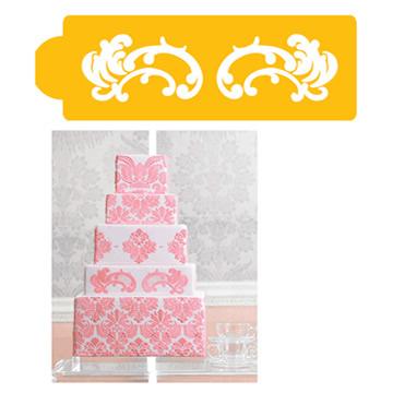 Damask cake tier #4