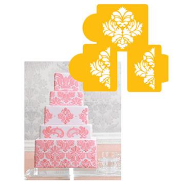 Damask cake tier #3